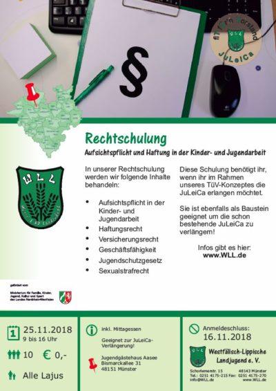 (Bild: WLL) 2018 Rechtschulung November