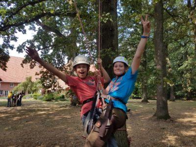 (Foto: WLL/Maletz) Viel Spaß beim Klettern in den Bäumen