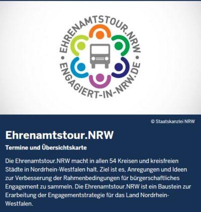 (Bild: Screenshot: www.engagiert-in-nrw.de/ehrenamtstournrw) Ehrenamtstour NRW