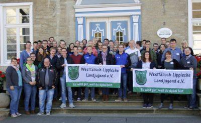 Delegiertenrunde, Gäste und Vorstand der WLL-Landesversammlung 2018 (Foto WLL/Hoffmann)