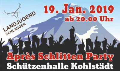 (Bild: LJ Schlangen) Après Schlitten Party LJ Schlangen