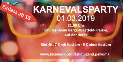 (Bild: LJ Pelkum) Karnevalsparty Landjugend Pelkum 2019