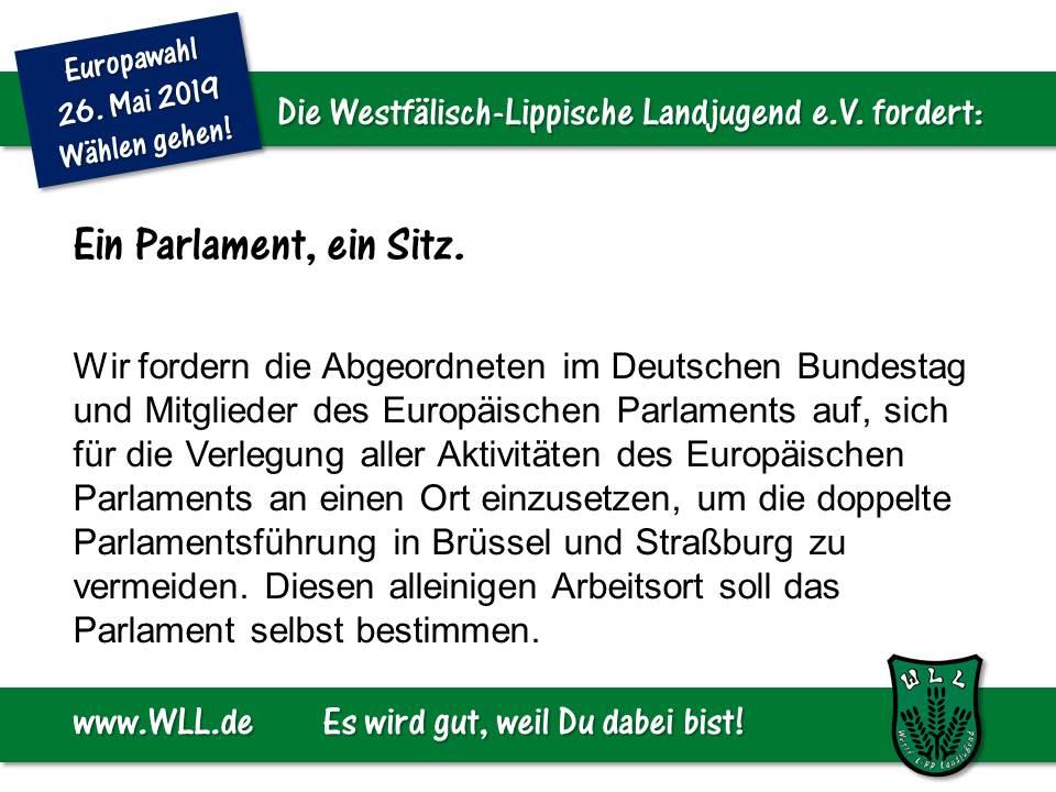 (Bild: WLL) WLL-Wahlforderung - Ein Parlament, ein Sitz
