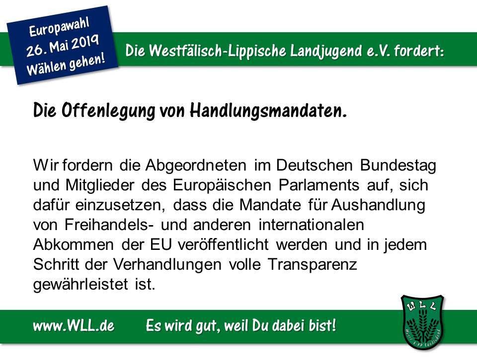 (Bild: WLL) WLL-Wahlforderung- Offenlegung von Verhandlungsmandaten