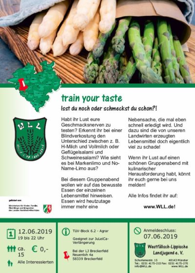 (Bild: WLL) 2019 TüV Agrar train yourtaste