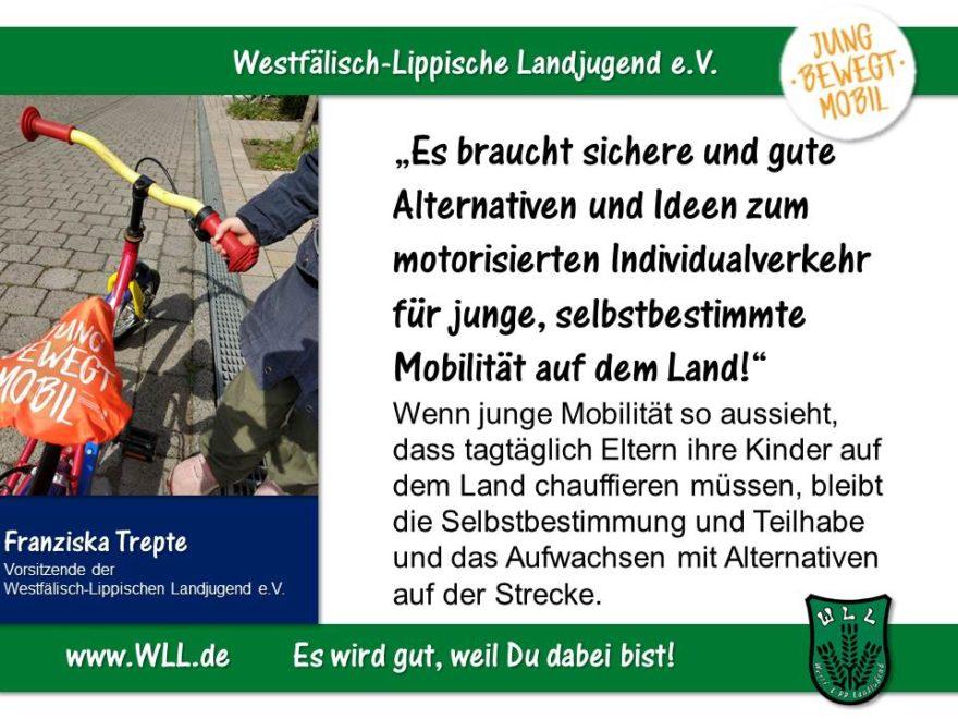 (Bild: WLL) Wege breiten! Jugendgerechter Ausbau der mobilen Infrastruktur in NRW!