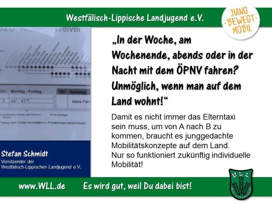(Bild: WLL) Junggedachte Mobilitätskonzepte! Jugendgerechter Ausbau der mobilen Infrastruktur in NRW!