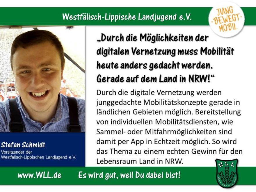 (Bild: WLL) Mobilität als Motor! Jugendgerechter Ausbau der mobilen Infrastruktur in NRW!