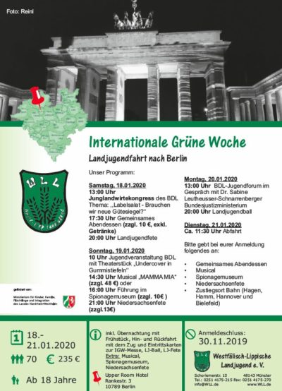 (Flyer: WLL) IGW-Fahrt Berlin 2020