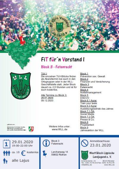 (Bild: WLL) 2020 TüV FiT für´n Vorstand I - Fetenrecht
