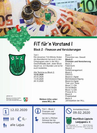 TüV I - Block 2 Finanzen und Versicherungen