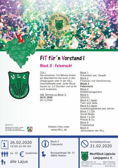 Fetenrecht TüV I - Block 3