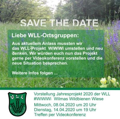 (Bild: WLL) Am Mittwoch, 08.04.2020 ist Projektvorstellung als Videokonferenz zu #WiWiWi