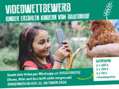 Videowettbewerb Kinder erzählen Kindern vom Bauernhof - WLV
