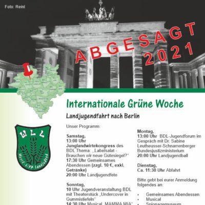 Flyer Absage IGW-Fahrt