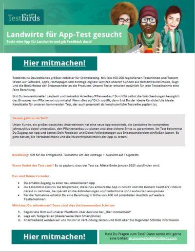 App-Test für Landwirte