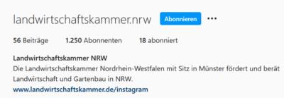 Instagram: Landwirtschaftskammer NRW