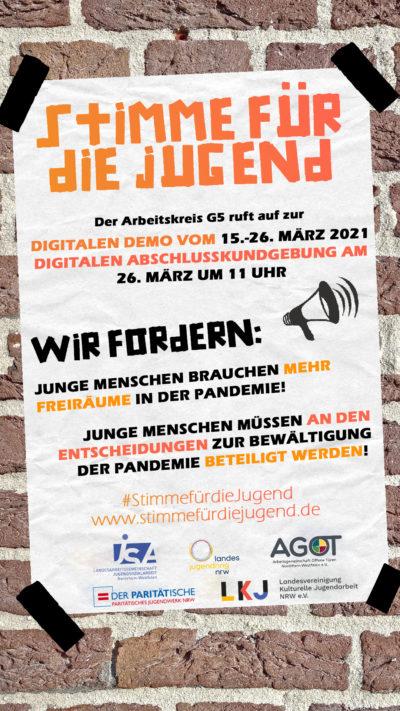 (Bild: LJR NRW) Digitale Demo: Stimme für die Juguend