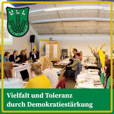Vielfalt und Toleranz durch Demokratiestärkung